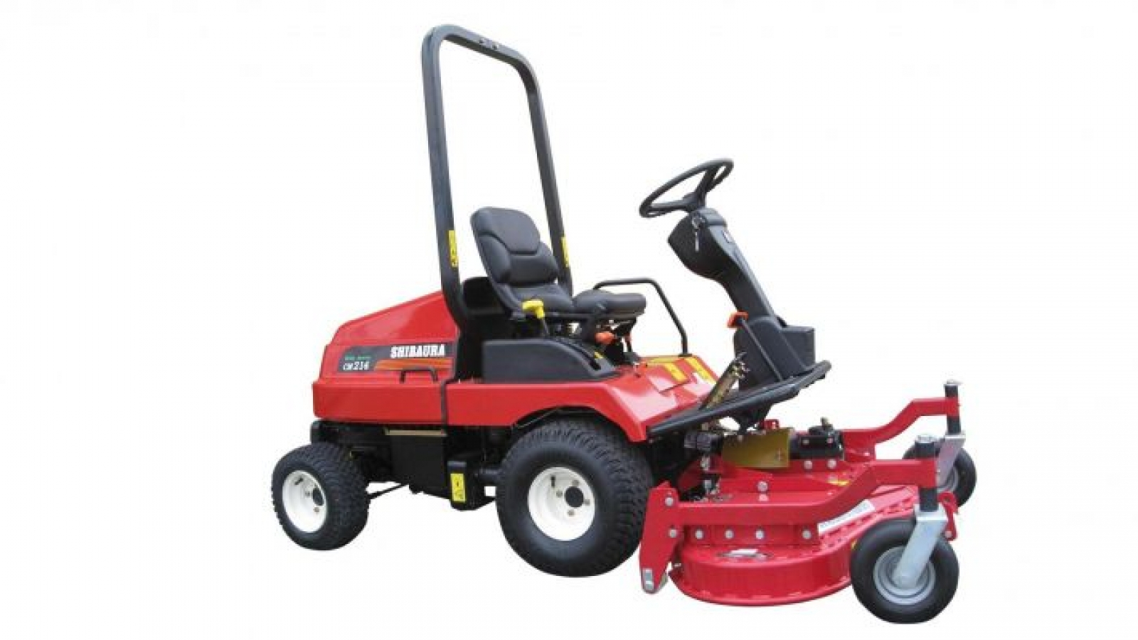 Shibaura CM214 front mowerThe most compact Shibaura front mower is the  CM214. The CM214 is of excellent quality, is equipped with a 3-cylinder  diesel engine ...